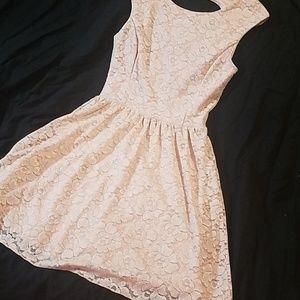 Delia*s Pink & Silver Lace Dress
